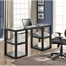 Walmart Computer Desk Chairs by Mainstays Solar Glass Top Desk Black Walmart Com