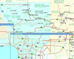 Zip Code Map 5 Digit Codes Business Highways Cities Towns Counties And Hollywood California Area