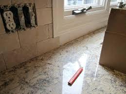 tumbled travertine subway tile backsplash kitchen marble threshold