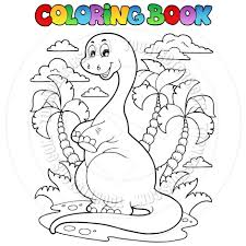 Cartoon Coloring Book Dinosaur