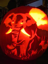 Alien Pumpkin Designs by The Gallery For U003e Elephant Pumpkin Carving Halloween
