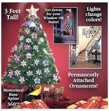 36 Rotating Color Changing Christmas Tree With Ornaments And Star Topper