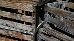 Wooden Crates Background Free Stock Photo