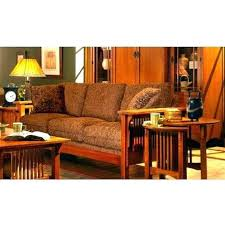 Mission Style Living Room Furniture Craftsman Oak Microfiber Sofa View Images