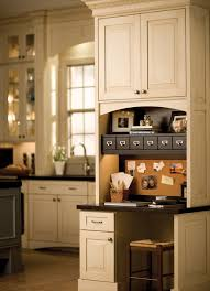 A Desk Area In The Kitchen Is Ideal For Dura Supreme Cabinetrys Small Apothecary Drawers