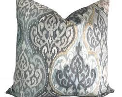 grey pillow etsy
