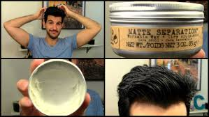 new bed head matte separation workable wax review tutorial youtube