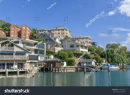100 Mosman Houses Yachts Docks Marina Expensive Affluent Stock Photo