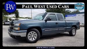100 Used Trucks For Sale In Florida 2006 Chevrolet Silverado 1500 LT Gainesville FL