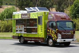 Olive Garden Food Truck Parks In Boston's North End, Authentic ...