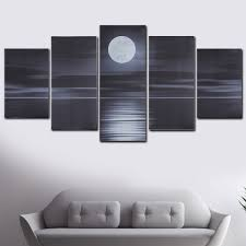 Multistyle 5 Panel Canvas Wall Art Unframed Oil Painting Picture Prints Modern Abstract Home Hanging Decor Gift