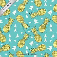 Pineapples pattern Vector