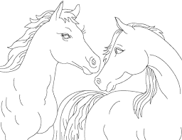2 Horses To Color