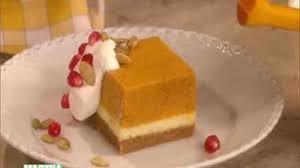 Pumpkin Swirl Cheesecake Bars by Pumpkin Mousse Cheesecake Recipe U0026 Video Martha Stewart