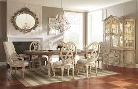 Oval Dining Table With Carved Legs Stretchers By American Drew