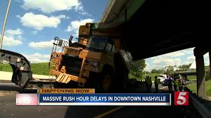 I-40/I-65 Reopens After Semi Hits Bridge In Nashville - NewsChannel ... New York Buff Media Truck Driver Pinned After Striking Overpass Hits Overpass Delays Train In Haven Wtnh Bridge Rolls Over On 8th Ave Offramp From I25 Fox31 Flatbed Truck Carrying Box Monroe Heraldnetcom Same Southern State Parkway Struck April Bus Cp Rail Coquitlam Scanbc Twitter Crews Scene With A Crane Hits Route 9 Berlin Nbc Connecticut 100th St Hit Again 4th Time This Year Stuck Under Closes Eries French Street News Nashville Inrstates Close After Semi Tctortrailer Fdr Drive Backs Up Traffic Wpix