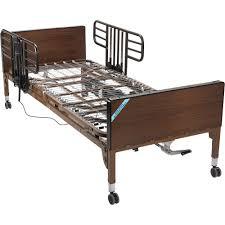 Stander Ez Adjust Bed Rail by Drive Medical No Gap Half Length Side Bed Rails With Brown Vein