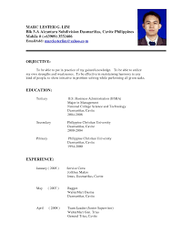 Resume Sample Fresh Graduates Philippines Refrence Format In The Save Ideas