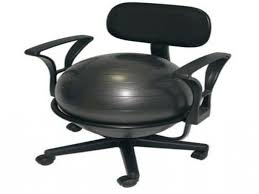 Yoga Ball Office Chair Amazon by Desks Cando With Armrests Exercise Ball Chair Amazon Aeromat
