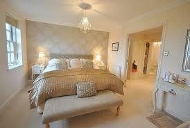Modern Gold White Bedroom Design