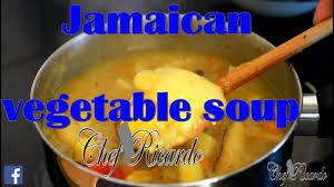 Jamaican Pumpkin Soup Vegan by Jamaican Vegetable Soup Youtube