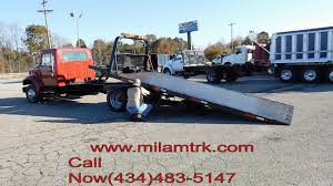 100 Milam Truck Sales 2000 INTERNATIONAL 4700 SINGLE AXLE ROLLBACK TRUCK FOR SALE T2989