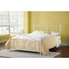 White Wrought Iron Headboard Queen Foter