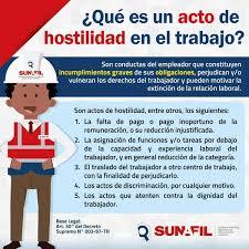 Qué Es Un Acto De Hostilidad Laboral Prevencionar Perú