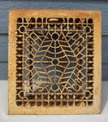 vintage antique cast iron floor grate ornate design heat register