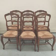 Set Of 6 Antique Country French Rush Seat Ladderback ... Antique Set Of 12 French Louis Xv Style Oak Ladder Back Kitchen Six 1940s Ding Chairs Room Chair Metal Oak Ladder Back Chairs Avaceroclub Fniture Classics Solid Wood Wayfair 10 Rush Seat White Painted Country Shabby Chic Cottage In Theodore Alexander Essential Ta Farmstead A 8 Nc152 Bernhardt Woven