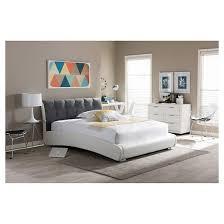 guerin contemporary platform bed baxton studio target