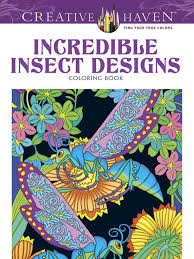 Incredible Insect Designs Coloring Book 599 Ea
