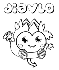 Moshi Monster Diavlo Coloring Pages