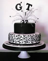 Black & White 18th Birthday Cake