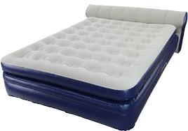 aerobed elevated headboard queen air mattress w built in pump