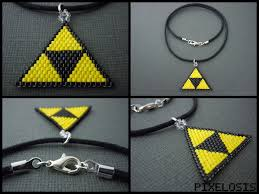 triforce l diy handmade seed bead triforce necklace by pixelosis deviantart