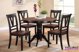 Poundex F2385 5-Piece Round Dining Table Set In Cherry Black Cm3556 Round Top Solid Wood With Mirror Ding Table Set Espresso Homy Living Merced Natural Wood Finish 5 Piece East West Fniture Antique Pedestal Plainville Microfiber Seat Chairs Charrell Homey Design Hd8089 5pc Brnan Single Barzini And Black Leatherette Chair Coaster 105061 Circular Room At Hotel Hershey Herbaugesacorg Brera Round Ding Table Nottingham Rustic Solid Paula Deen Home W 4 Splat Back Modern And Cozy Elegant Sets