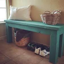 simple 2x4 diy entryway bench with custom mixed annie sloan chalk
