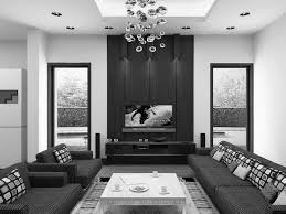 100 Modern Interior Decoration Ideas Glorious White Rectangle Low Coffee Table And Black Sofas In Luxury
