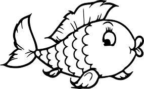 Coloring Pages Of Fish Cute Little Page For Kids Animal Pictures
