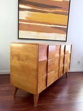 Heywood Wakefield Dresser With Mirror by Heywood Wakefield Champagne Antiques Ebay