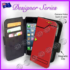 For iPhone 5 5G 5S WALLET Flip Card Cover Retro Pokemon Pokedex
