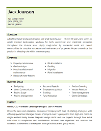 Landscaping Resume Example Landscape Design