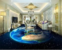 2018 earth 3d space living room floor tiles painted 2015 new 3d