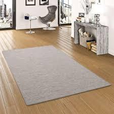 sisal optik designer flachgewebe teppich grau meliert größe 200x300 cm