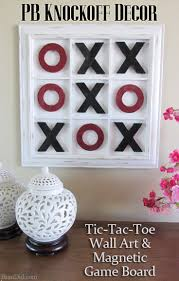 Pottery Barn Wall Decor by Pb Inspired Tic Tac Toe Wall Art And Game Tic Tac Toe Board Toe
