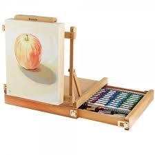 Easel Desk With Stool by Renoir Table Easel U0026 Sketchbox Easel W Metal Lined Drawer