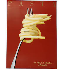 Hand Signed Pasta Poster By Razzia 1986