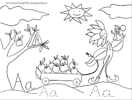 The Letter A Coloring Sheet