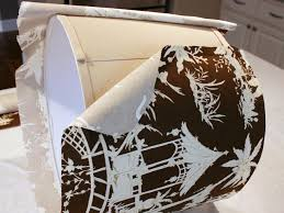 Wrap Fabric Around Lampshade